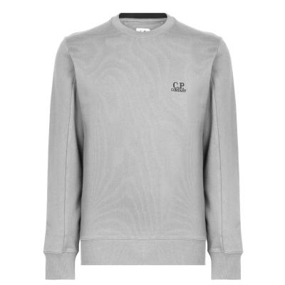 Pulover CP COMPANY Burst Logo cu buzunar Sleeve gri m93