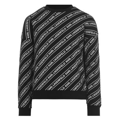 Bluza de trening KARL LAGERFELD Unisex Diagonal Logo pentru copii negru m41