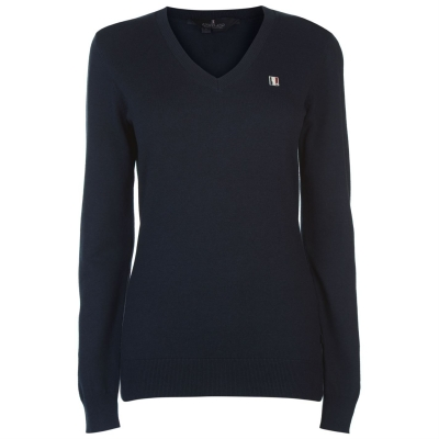 Kingsland clasic tricot cu decolteu in V pentru Femei bleumarin