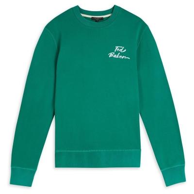 Pulover Ted Baker Trophey Logo bright verde