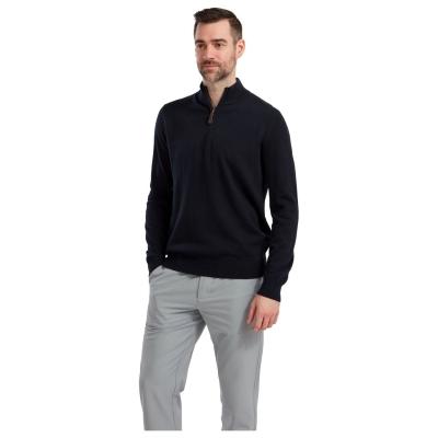 Pulovere Footjoy fermoar tricot pentru Barbati bleumarin