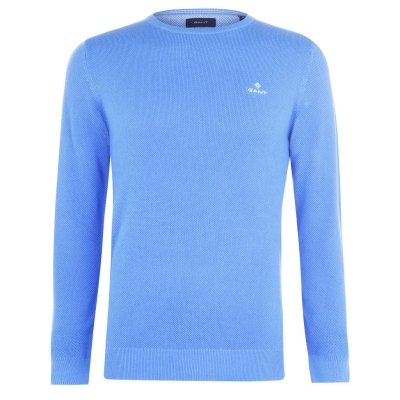 Pulovere Gant Gant cu guler rotund albastru