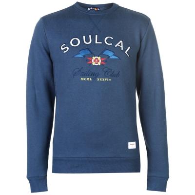 Pulovere SoulCal Sailing cu guler rotund inchis denim