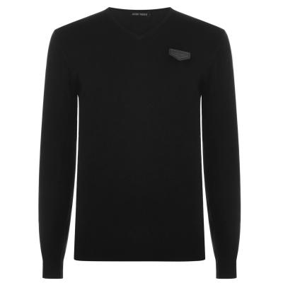 Pulovere tricotate Antony Morato cu decolteu in V negru