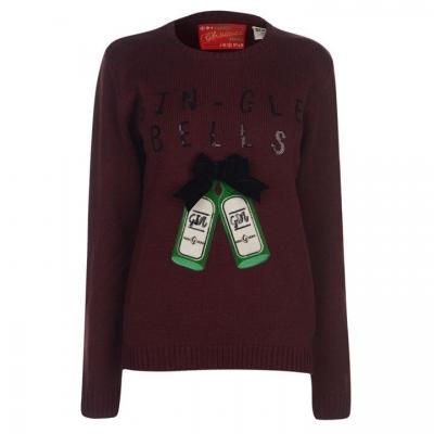 Pulovere tricotate Craciun pentru Femei rosu burgundy gin