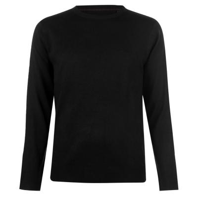 Pulovere tricotate Pierre Cardin Crew pentru Barbati negru