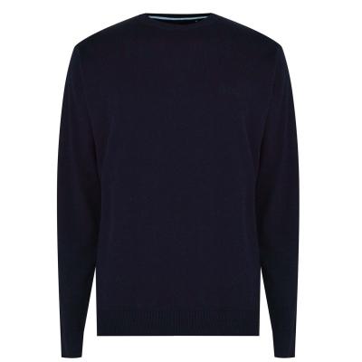 Pulovere tricotate Pierre Cardin Crew pentru Barbati bleumarin