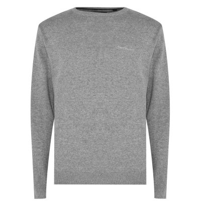 Pulovere tricotate Pierre Cardin Crew pentru Barbati gri
