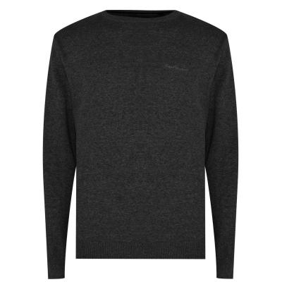 Pulovere tricotate Pierre Cardin Crew pentru Barbati gri carbune