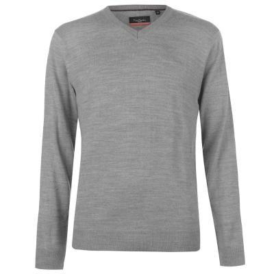 Pulovere tricotate Pierre Cardin cu decolteu in V pentru Barbati gri
