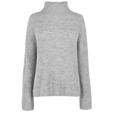 Pulovere tricotate Vila Glippa cu Maneca Lunga gri