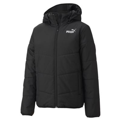 Jacheta Puma Essential cu captuseala baieti negru