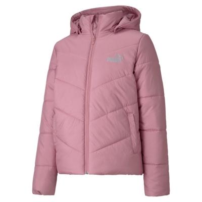 Jacheta Puma Essential cu captuseala pentru fetite roz