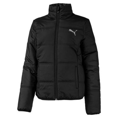 Jacheta Puma Essential cu captuseala pentru fetite negru