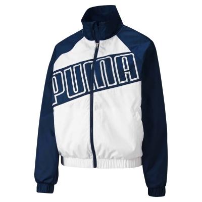 Jacheta Puma Feel It Wind Breaker pentru Femei alb denim