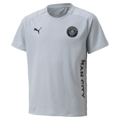 Tricou Puma Manchester City FC Travel Juniors gri