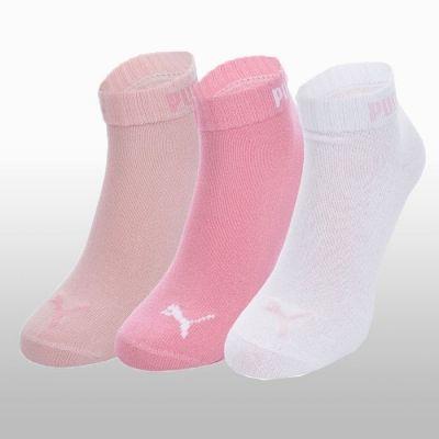 Sosete roz cu alb Puma Quarter V 3 perechi Femei