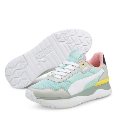 Adidasi sport Puma R78 Voyage pentru fetite albastru alb