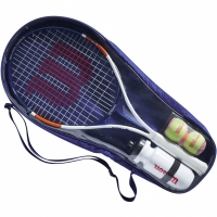 Rachete tenis zgura  Wilson Roland Garros Elite 25 Kit 25 cu A Case alb, bleumarin And portocaliu WR039010F