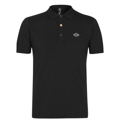 Replay Logo Collar Shirt negru