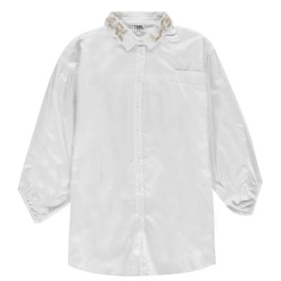 Rochie-camasa Karl Lagerfeld pentru fetite alb 10b