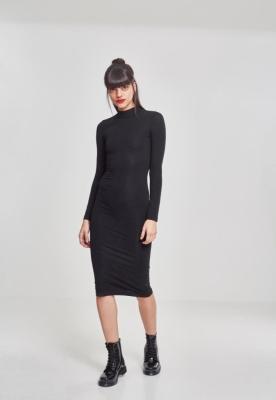 Rochie neagra helanca maneca lunga pentru Femei negru Urban Classics