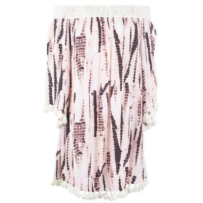 Rochie Watercult Batik Bardot roz nisip