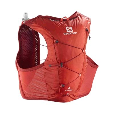 Rucsac Alergare Barbati Salomon ACTIVE SKIN 4 SET Rosu cu sistem de hidratare