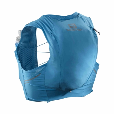 Rucsac Alergare Barbati Salomon SENSE PRO 10 SET Albastru cu sistem de hidratare