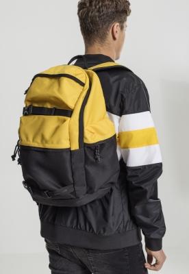 Rucsac Colourblocking galben-negru Urban Classics chrome
