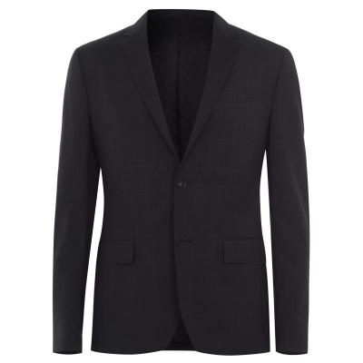 Sacou Calvin Klein Subtle Check Suit gri pt3