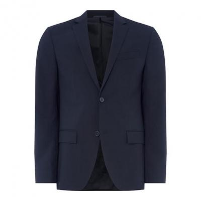 Sacou Calvin Klein Wool Suit bleumarin