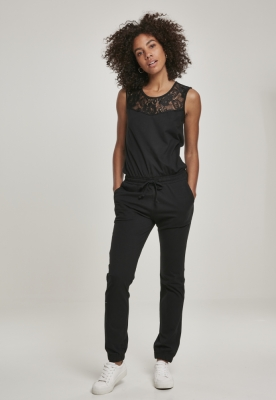 Salopeta dantela pentru Femei negru Urban Classics