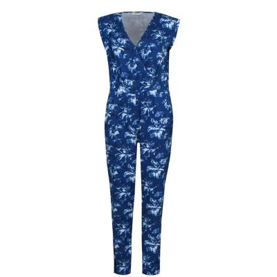 Salopeta Jack Wills Greencroft Floral Wrap Front albastru