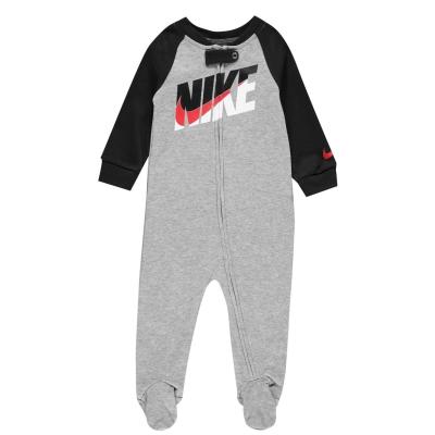 Salopeta Nike Swoosh pentru baieti pentru Bebelusi gri deschis