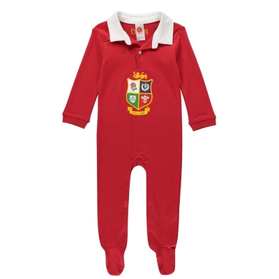 Pijamale bebelusi Brecrest British and Irish Lions rosu