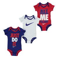 Salopeta Set de 3 Nike Swoosh pentru fete pentru Bebelusi