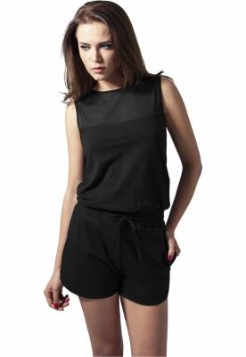 Salopete fashion scurte negru Urban Classics