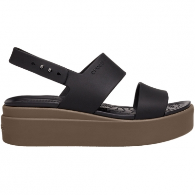 Sandale Crocs Brooklyn Low Wedge In maro 206453 07H pentru femei