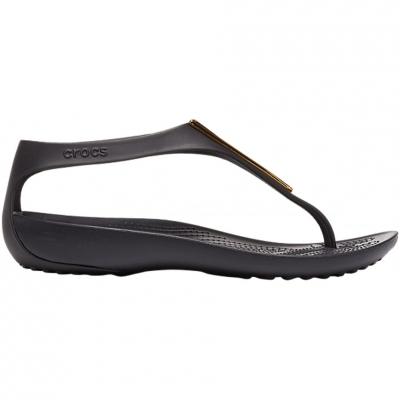 Sandale Crocs Serena Metallic Bar Fp In negru And Gold 206420 751 pentru femei