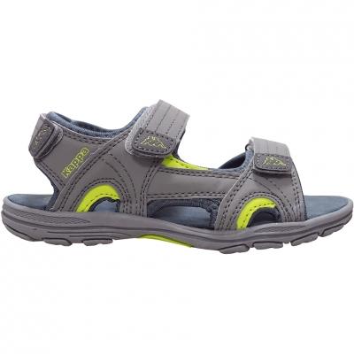 Sandale Kappa Early II K Footwear gri-lime 260373K 1633 pentru Copii