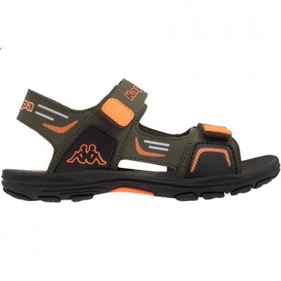Sandale Kappa Pure K Footwear verde-portocaliu 260594K 3144 pentru Copii