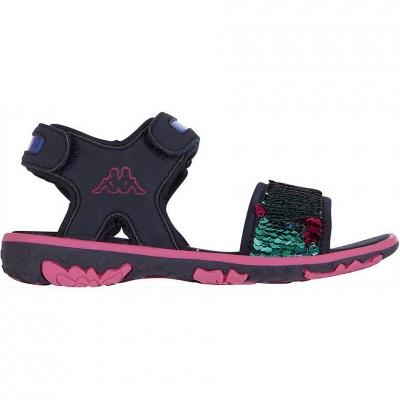 Sandale Kappa Seaqueen K Footwear bleumarin-roz 260767K 6722 copii pentru Copii