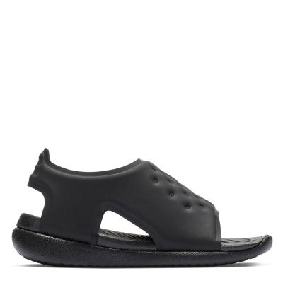 Sandale Nike Sunray Adjust pentru Bebelusi negru alb