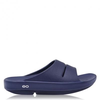 Sandale OOFOS Ooahh Slide pentru Barbati bleumarin