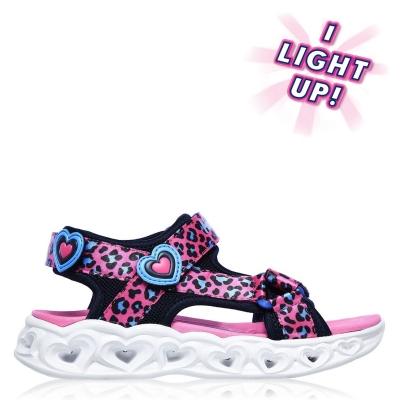 Sandale Skechers Savvy care se aprind pentru fete pentru Bebelusi roz negru