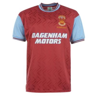 Tricou echipa Score Draw West Ham United 94 pentru Barbati visiniu albastru