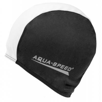 Casca de inot Aqua-Speed poliester sport negru and alb 57/091