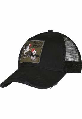 Sepci C&S WL Favela Fights Distressed Curved Trucker negru-mc Cayler and Sons
