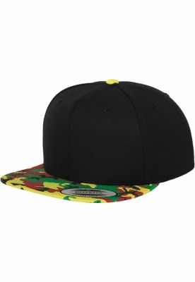 Sepci hip hop Flexfit Printed Snapback negru-camuflaj